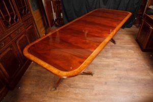 Mahogany Regency Pedestal mesa de jantar Mesas de jantar extensível