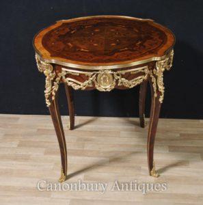 Mesas laterais francesas do centro da tabela do século XVI de Louis XVI