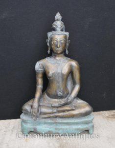 Grande estatua de bronze nepalês de buddhism Arte budista budista Nepal
