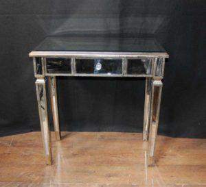 Mesas da sala de mesa espelhada Art Deco Mirrored