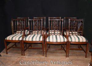 Conjunto 8 cadeiras de jantar mogno REGENCY DINERS