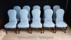 SET 10 cadeiras de jantar cadeiras estofadas vitoriano