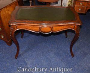 Antigo francês mesa escrivaninha em jacarandá