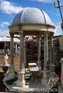 Gazebo do Templo de Jardim de 2,4 m com cúpula cónica