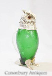 Jarro de vidro vitoriano do jarro do filtro da placa de prata