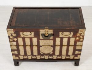 Baú de casamento chinês - baú de armário antigo decorativo