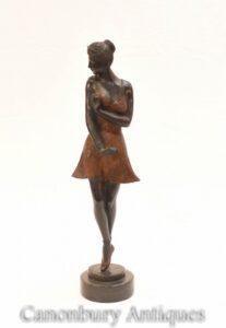 Estátua de bailarina em bronze art déEstátua de bailarina em bronze art déco - dançarina de baléco - dançarina de balé