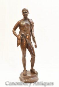 Estátua de bronze nu David - estatueta clássica