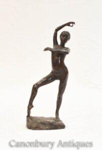 Nua Ninfa Dançarina Estatueta de Bronze Arte etrusca