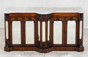 Armário de aparador vitoriano - Buffet de servidor antigo 1860
