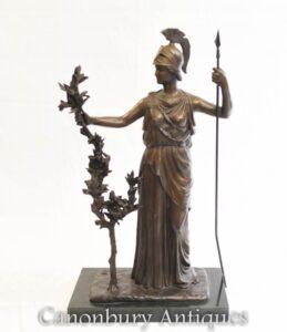 Estátua de Bronze Britannia - Deusa Romana da Bretanha