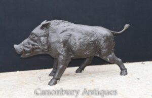 Estátua de Javali de Bronze em tamanho real - Estátua Celtic Wild Hog