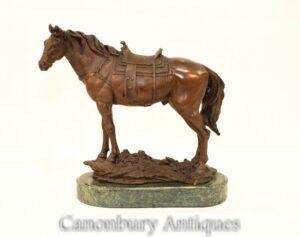 Estátua do Cavalo de Bronze Francês - Estátua Equestre