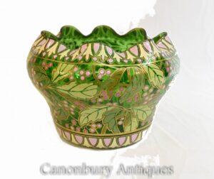 Prato de vidro Art Nouveau - Antigo vaso francês 1930